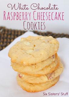 White Chocolate Raspberry Cheesecake Cookies