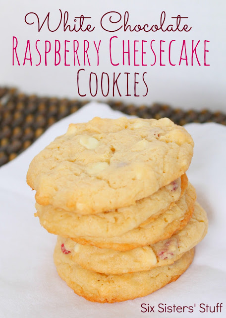 Six Sisters' Stuff: White Chocolate Raspberry Cheesecake Cookies Recipe