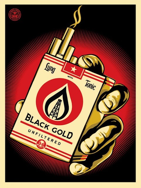 "Shepard Fairey is set to release a new edition entitled ""Black Gold"" next week via ObeyGiant."
