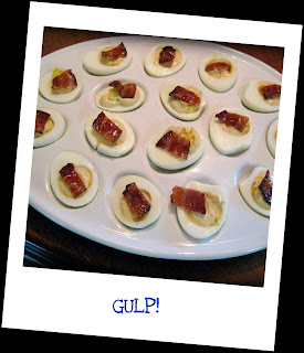 Recipe: Spicy horseradish deviled eggs with candied bacon