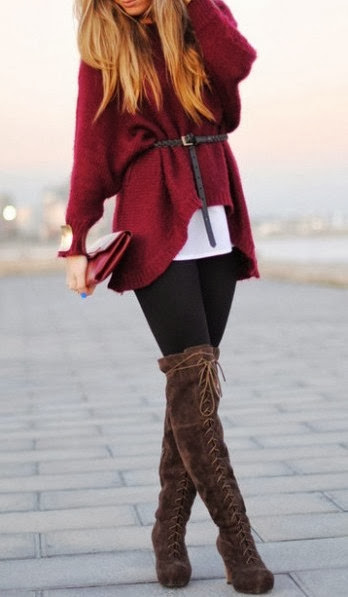 Belted Big Sweater