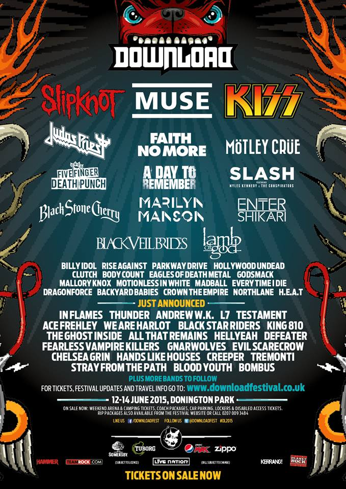 download festival line up 2015
