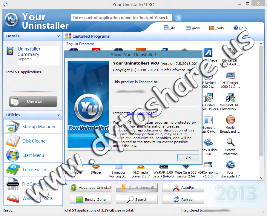 Uninstall any installed program completely, even corrupted ones. The most