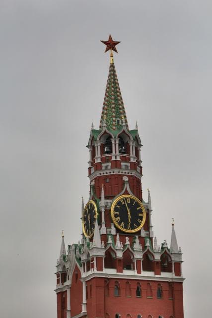 Torre de el Salvador en la Muralla del Kremlin