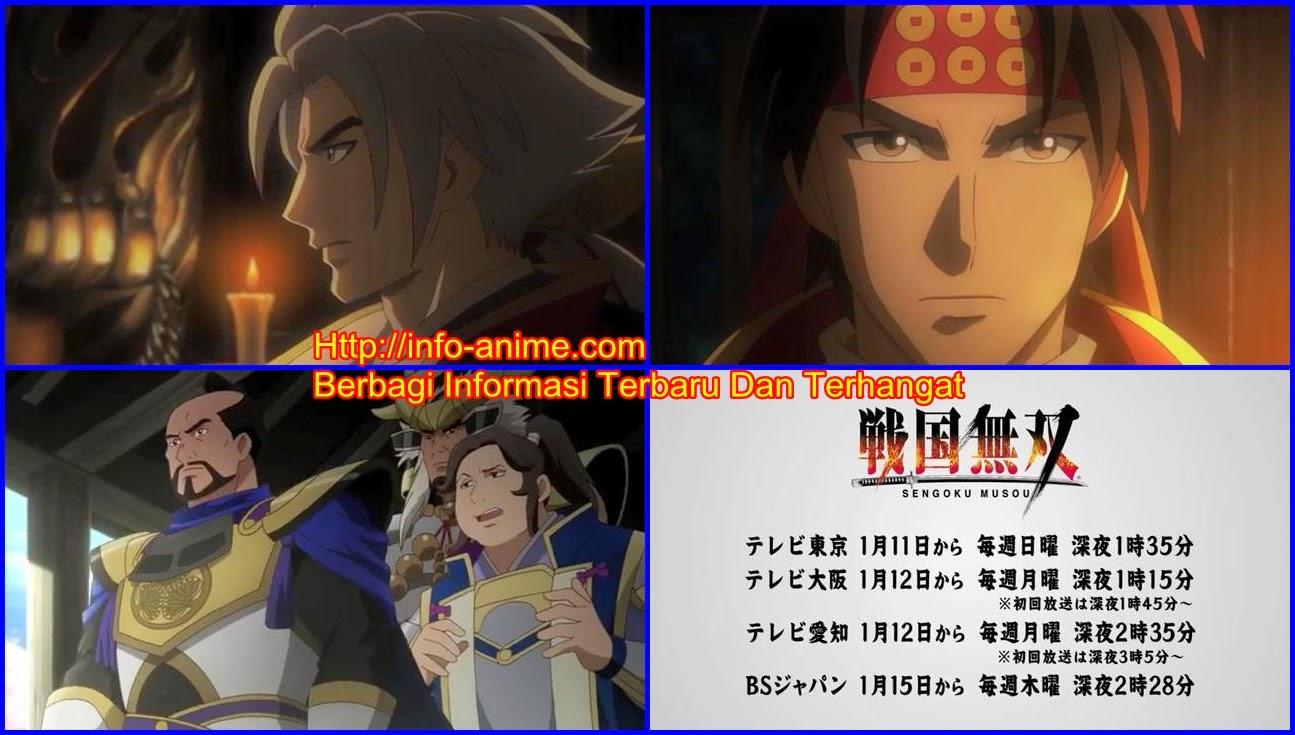 [ Info-Anime ] Anime Sengoku Musou Perlihatkan Iklan Yang Diperbarui