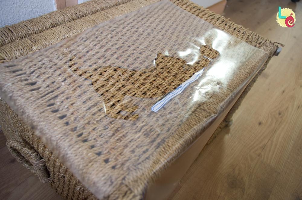 Lovers crafts restaurando un ba l de mimbre - Baules de mimbre ...