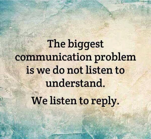 Listening, the most important communication skill