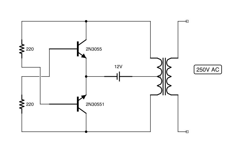 shadi soundation simple dc to ac converter inverter rh soundation blogspot com ac to dc converter circuit diagram with transformer ac to dc converter circuit diagram