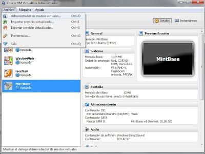 disco diferenciación VirtualBox principal