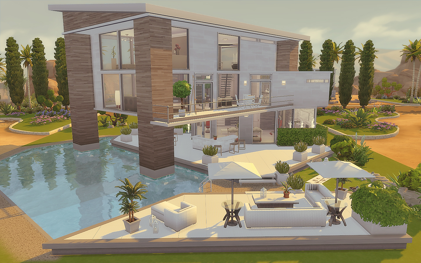 My sims 4 blog modern house no cc by via sims for Modern mansion house