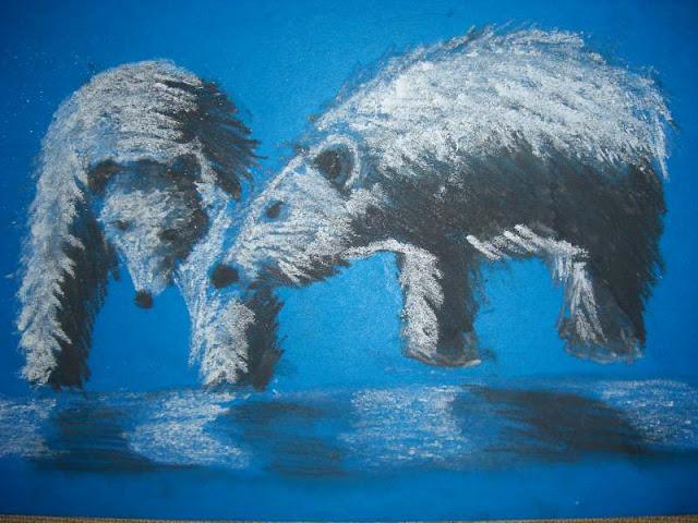 Ёжик и Медвежонок – иллюстрация к сказке. Автор рисунка: Софья Запорожцева