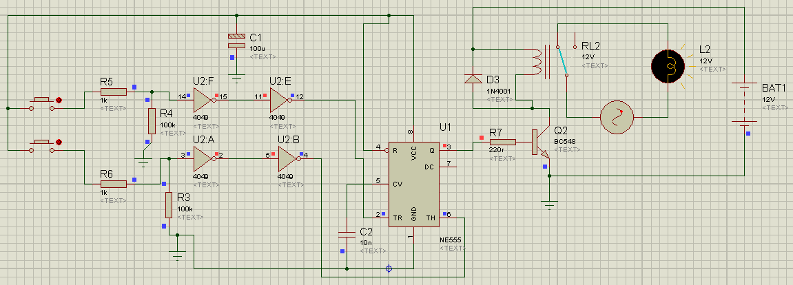 Simple Water Level Controller Using Ic 4049 And Ic 555 Param World