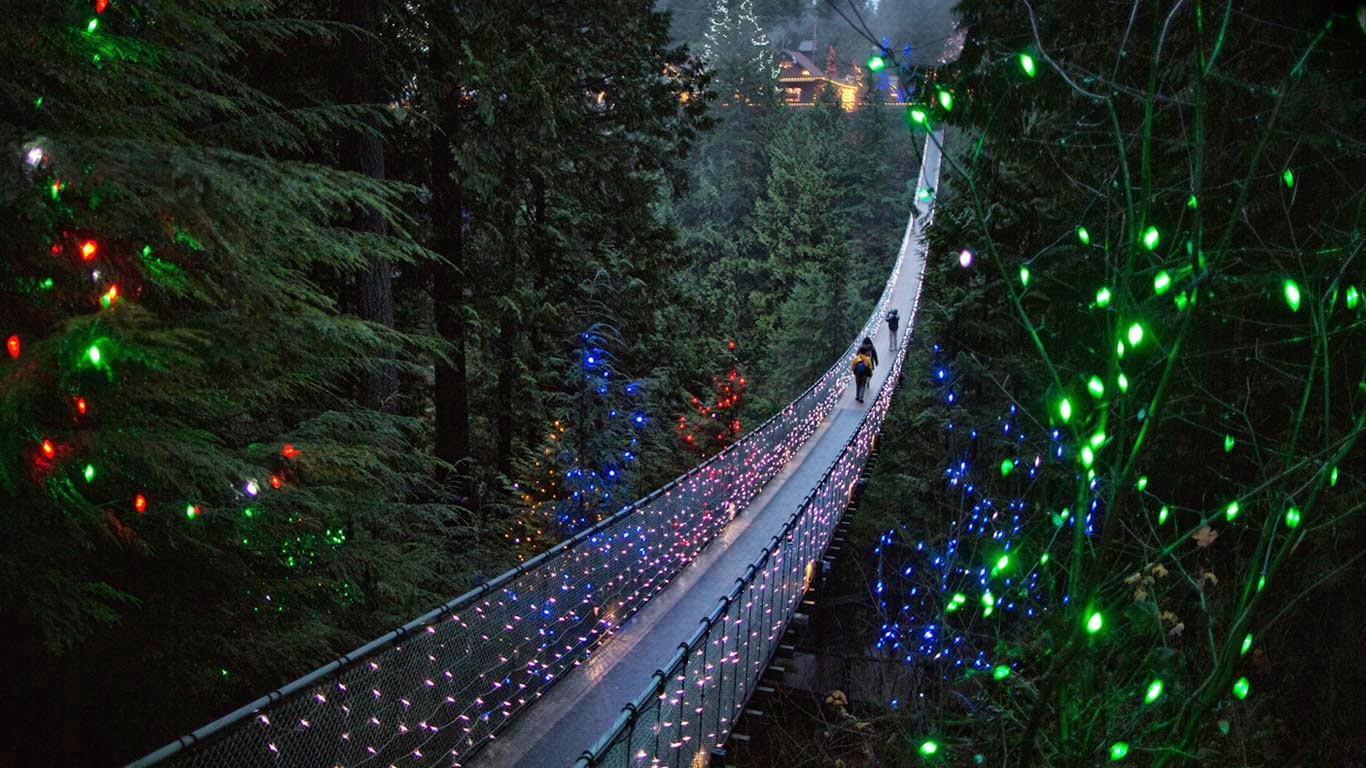 Capilano Suspension Bridge in Vancouver, British Columbia, Canada (© Andy Clark/Corbis) 364