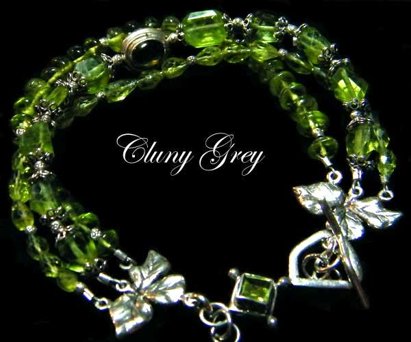 three strand peridot bracelet