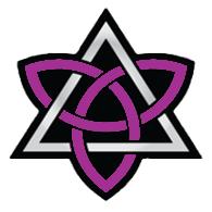 Triquetra con un triangulo, logo de Aniel Guerrero