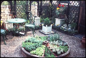 Captivating Wagon Wheel Herb Garden, Photo Origin Unknown