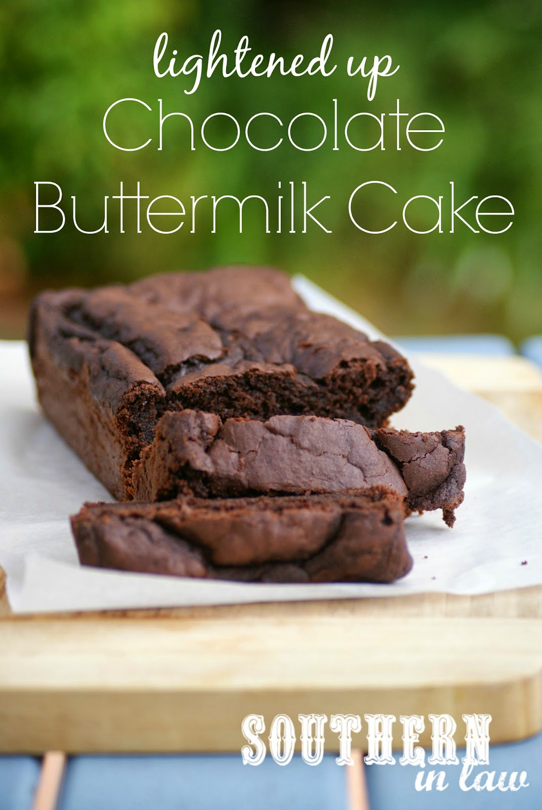 Low Fat Buttermilk Chocolate Cake Recipe - Gluten free, healthy, low sugar, lightened up