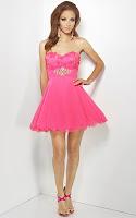 Къса рокля без презрамки с разкроена поличка, дизайнер Riva Design