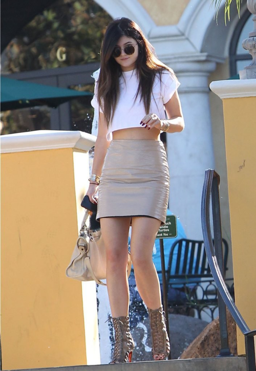 running in heels: Street Style: Kylie Jenner