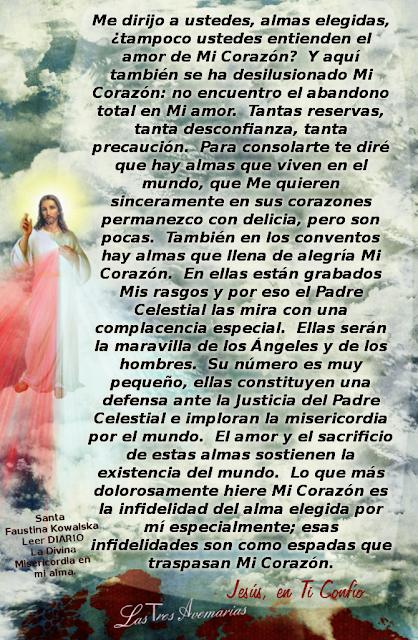 jesus habla de las almas elegidas