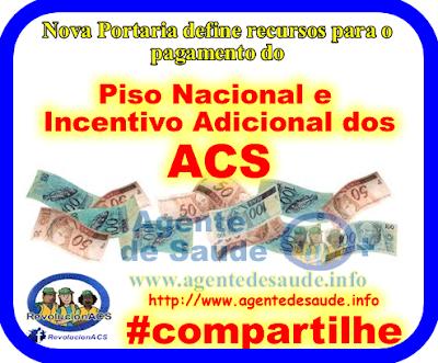 portaria%2Bpiso%2Be%2Badicional%2Bdos%2Bacs Portaria define recursos para o pagamento do Piso Nacional e Incentivo Adicional dos ACS