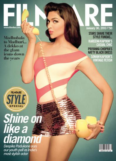 Deepika Padukone Featured On The Cover Of Filmfare