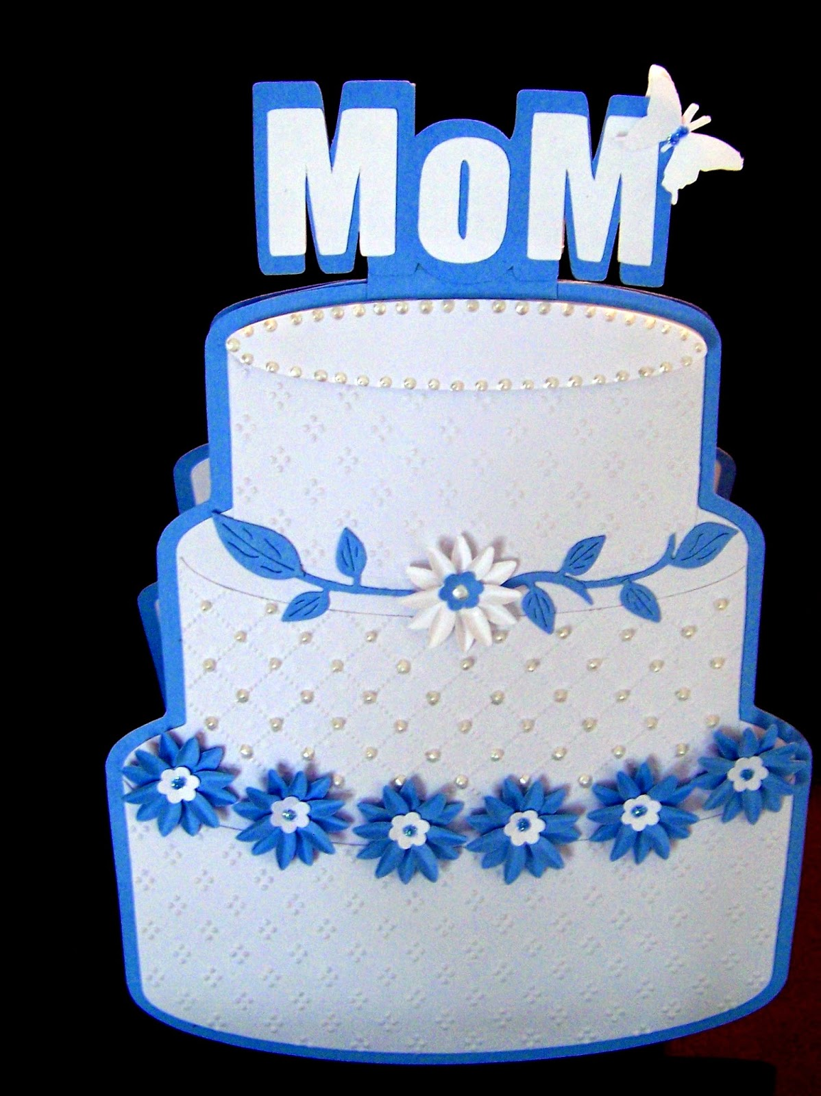 The Front Of Card Is Above It Opens Inside To Reveal White Blank Cake Shaped Space Write On