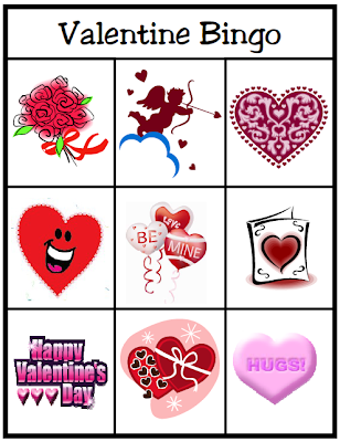 Valentine's Day Bingo For Preschoolers 1
