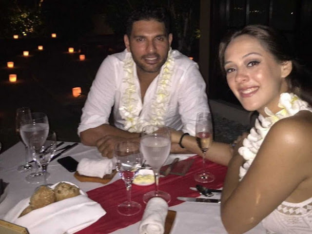 It's official. India cricketer Yuvraj Singh got engaged to model and actress Hazel Keech at a private ceremony in Bali on Diwali.   Yuvraj's manager Aneesh Gautam reportedly has confirmed the news. His father Yograj has said Yuvraj will be happy with Hazel Keech.