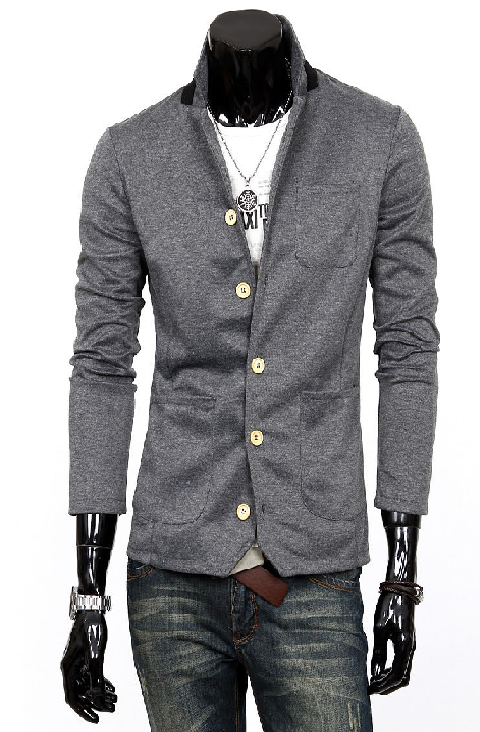 http://www.perfectmensblazers.com/shop-mens/outlet/men-clothing/blazers-amazing-dark-grey-stand-collar-cotton-mens-blazer-p-355.html