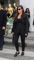 Kim Kardashian in a black outfit