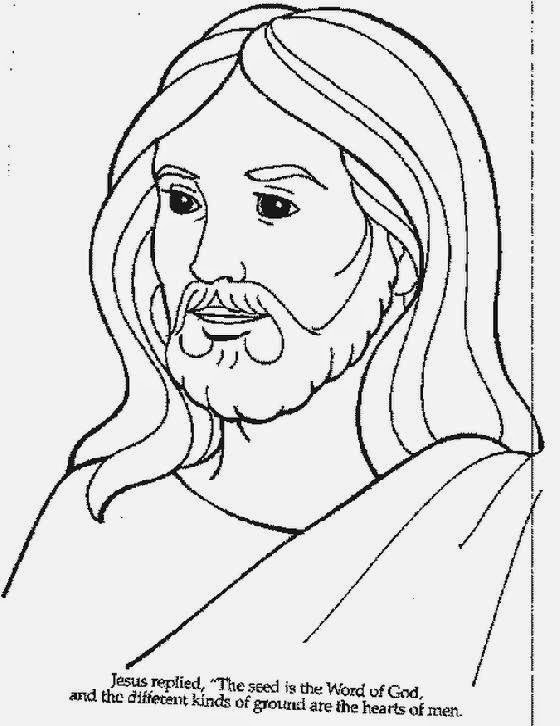 Jesus Pictures To Color | Free Coloring Pictures