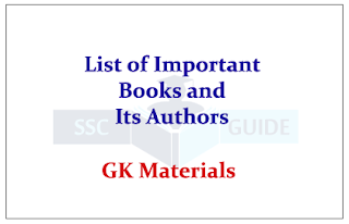 List of Important Books and its Authors 2015 GK Materials | Download