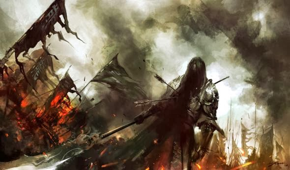 Wenjun Lin illustrations fantasy violence wars battles Warrior soul