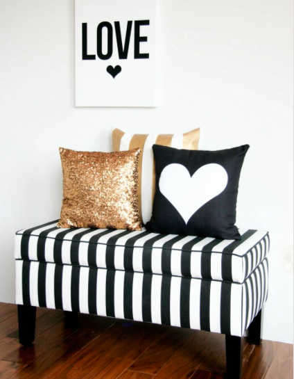Black, White, and Gold Decor