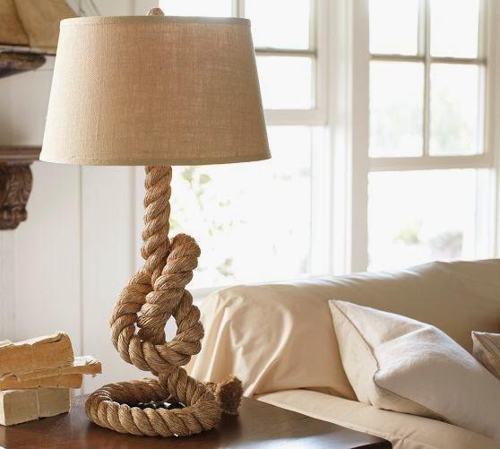 Напольные светильники из веревок своими руками