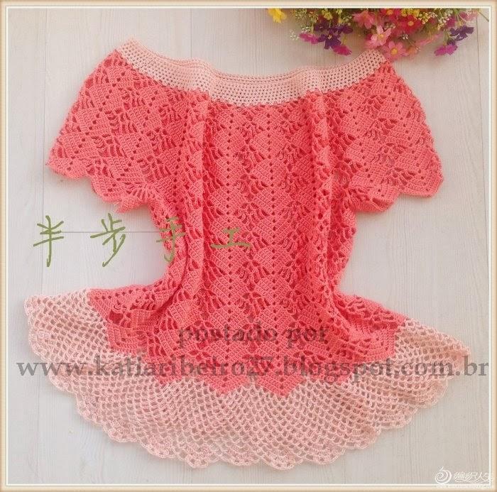 blusa em croch   gr fico e passo a passo   katia