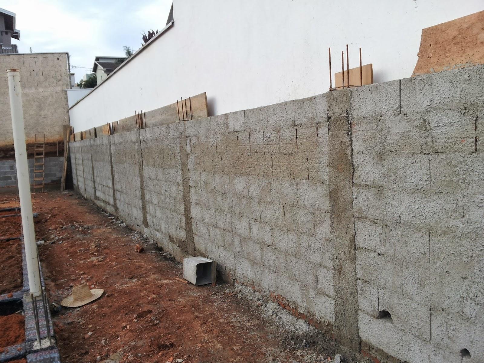 Muro de tijolo a vista fotos e modelos casa constru 237 da - Muro Lateral Pronto E J Com Cinta