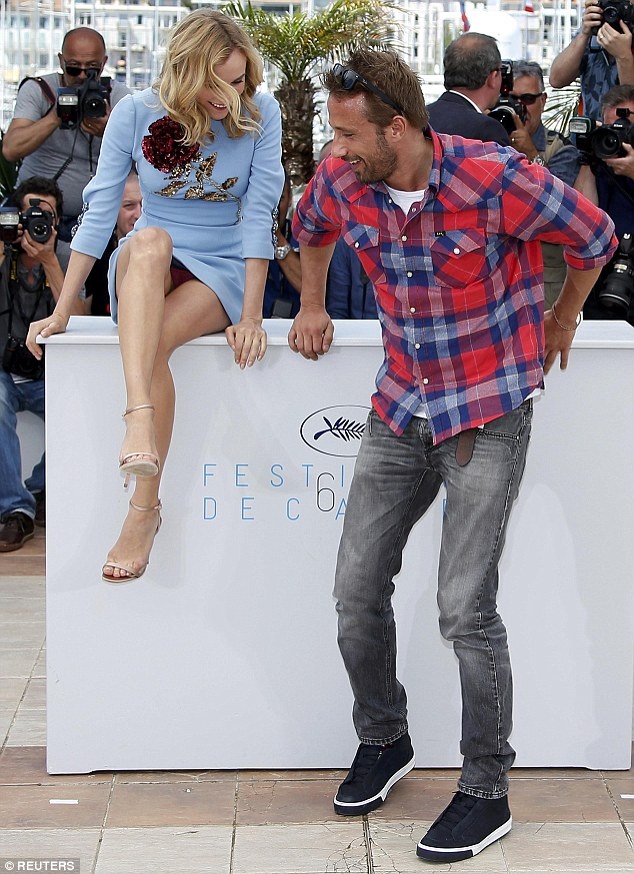 Diane Kruger suffers wardrobe malfunction at the 2015 Cannes Film Festival 'Disorder' photocall
