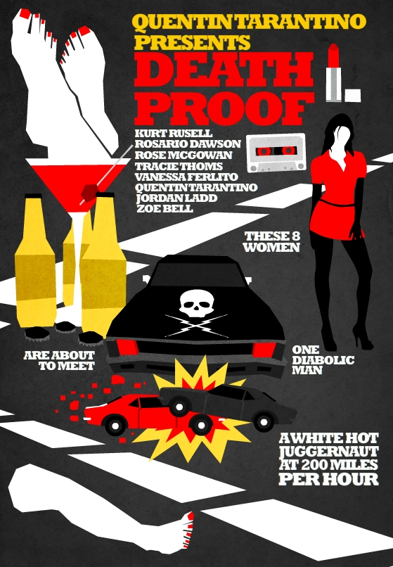 Filmes de Quentin Tarantino - posters de cinema minimalistas - Death Proof