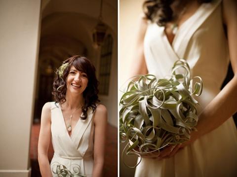 annorlunda brudbukett, tilandsia brudbukett, wedding bouquet airplant