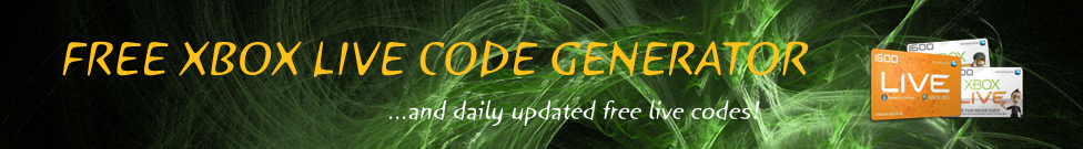 Free Xbox Live Codes, Xbox Live Code Generator, Latest Xbox Live News and Rumours