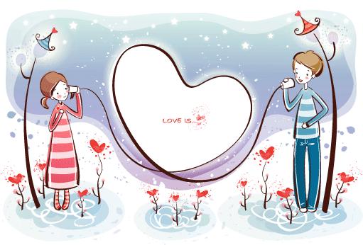 Estampas de San Valentín 32 - Vector