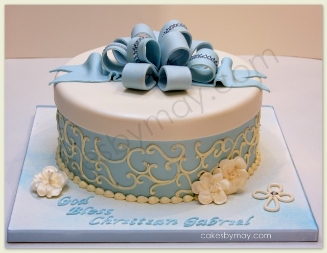 Cakes by Maylene: Baptism Gift Box Cake