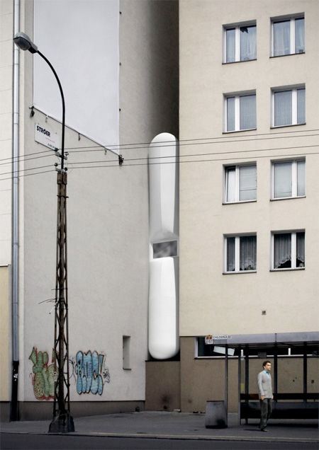 narrowhouse07 أضيق بيت في العالم '' من تصميم جاكوب سزيسني '' في بولاندا