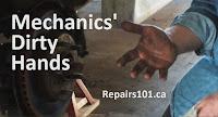 photo of mechanics' dirty hands