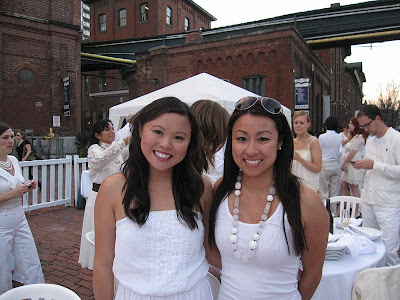 Diner en Blanc in the Distillery District