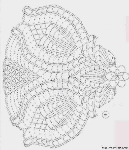 схема несложной салфетки крючком