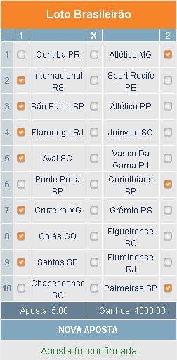 LOTOMOTION BRASILEIRÃO - APOSTA 02