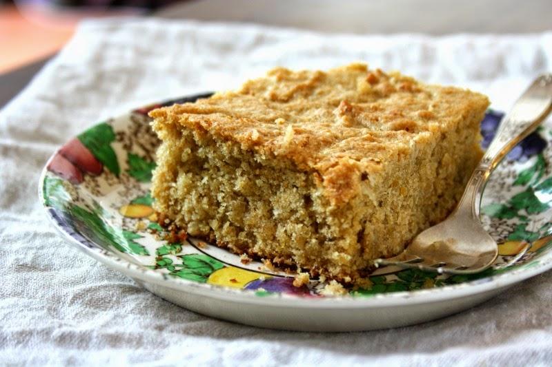 Healthy tahini lentil snack cake